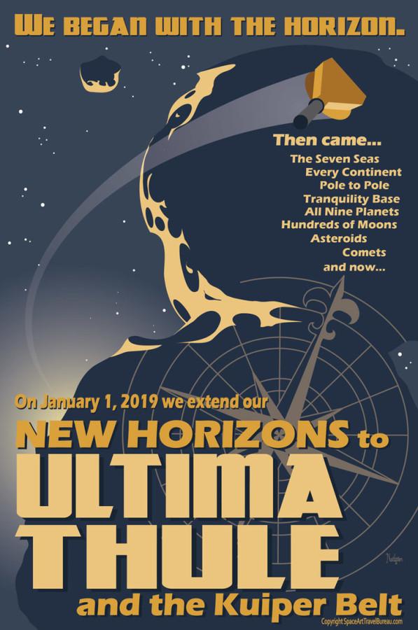 Астролюбитель нарисовал постер Ультима Туле