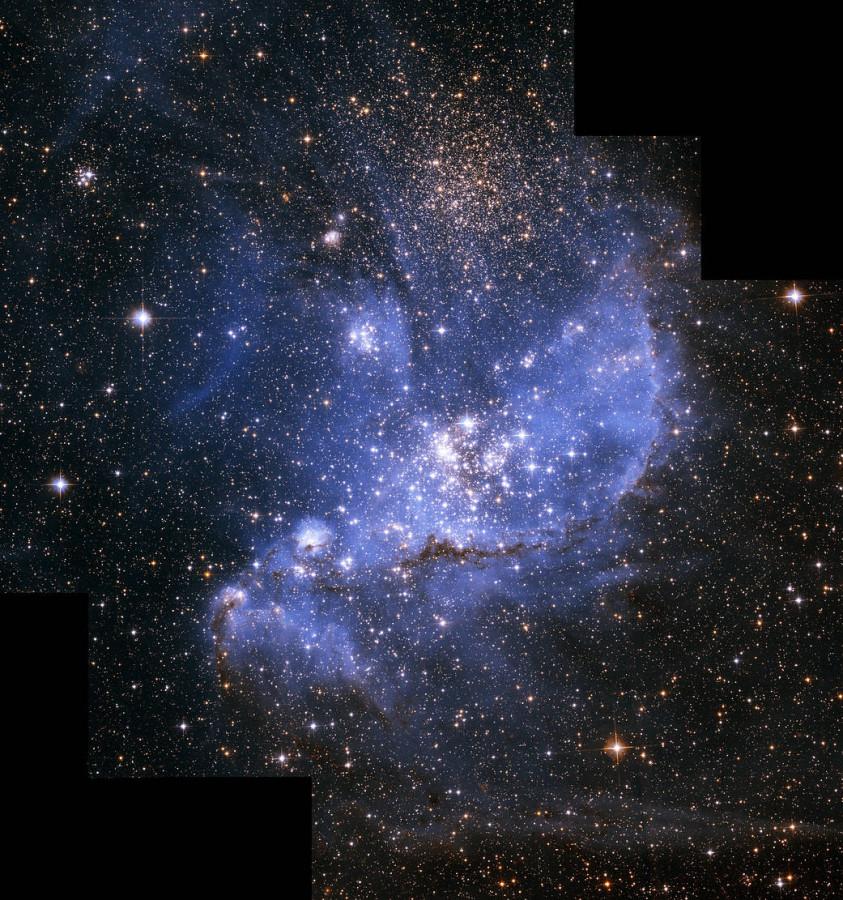 «Хаббл» сфотографировал звездную колыбель в соседней галактике