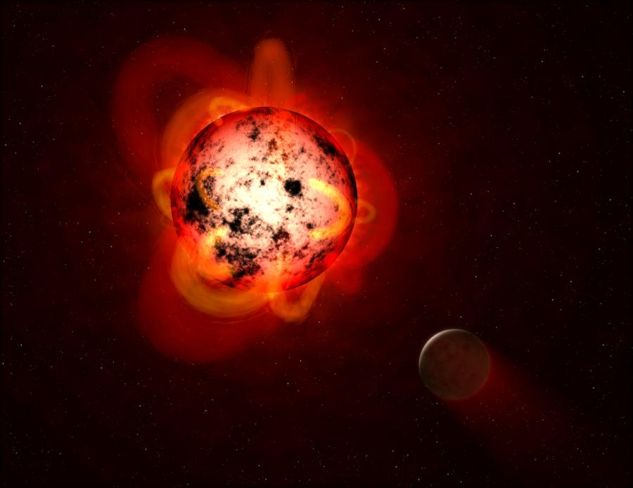 Рентгеновское излучение красных карликов может стерилизовать планету