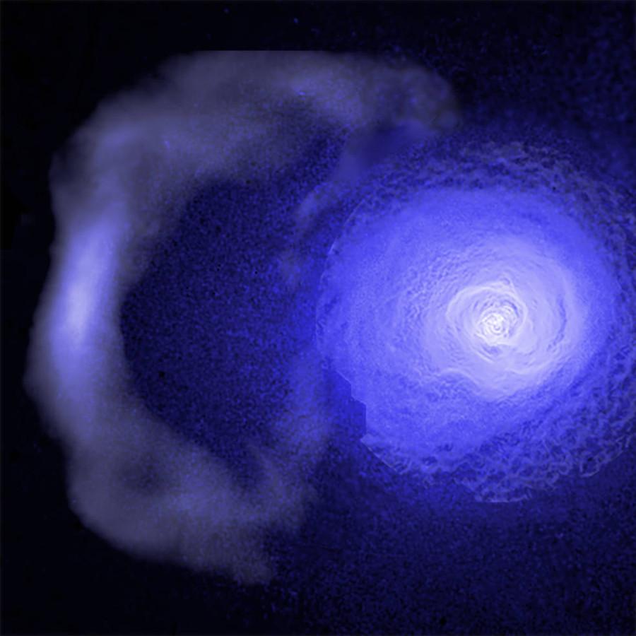 Ученые изучили галактический «холодный фронт»