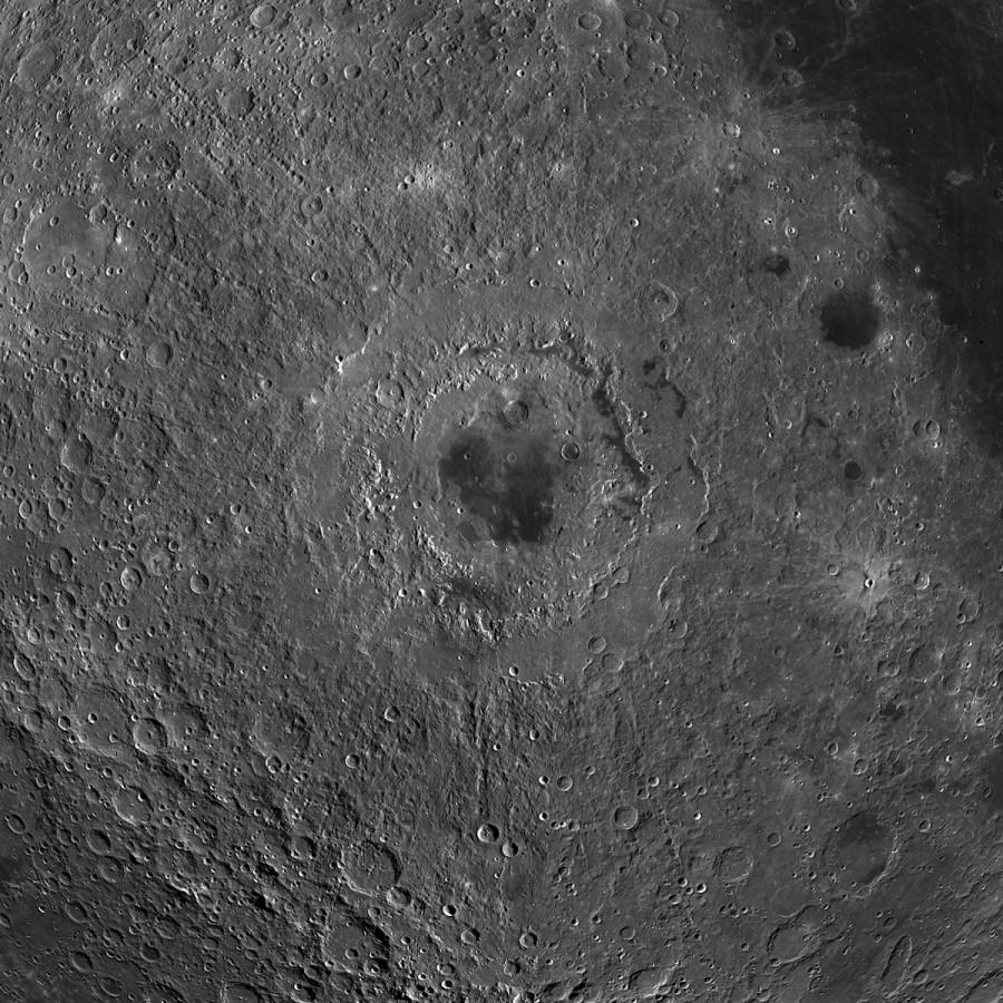 Составлена наиболее подробная карта светлых равнин Луны