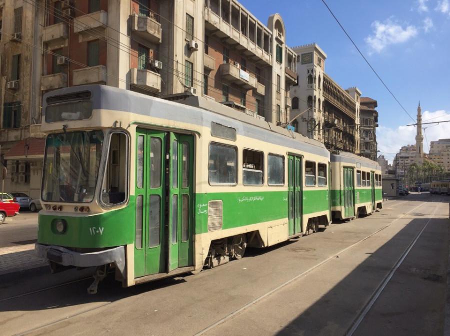 Трамваи Александрии. работа