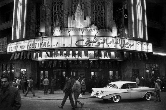 Исторический снимок фестиваля советского кино в Каире.