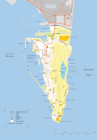 Карта Гибралтара.