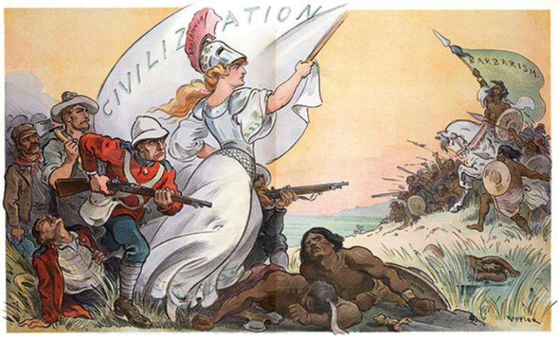 """Сраные бриташки в своей пропаганде свой жуткий милитаризм и свою жестокую колониальную политику всегда представляли как """"шествие цивилизации"""". Хотя в основе этого """"шествия цивилизации"""" лежал обычный грабеж, работорговля, наркоторговля и массовые убийства."""