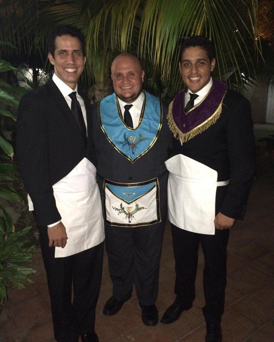 """Хуан Гуайдо, самозванец, провозгласивший себя """"президентом Венесуэлы"""", во время обучения в Пиндостане также вступил в одну из местных масонских лож Пиндостана. """"Чисто для прикола"""", ага."""