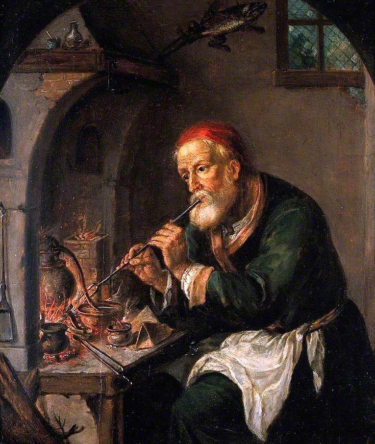 Средневековый алхимик.