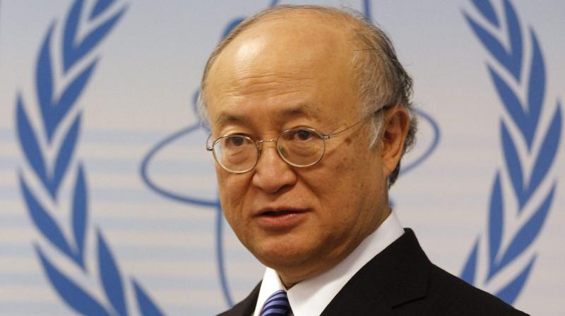 Юкия Амано, глава МАГАТЭ. Сегодня стало известно, что он был убит тупыми пиндосами.