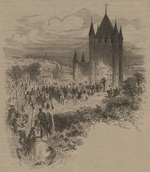 """Замок Тампль в Париже, построенный в 1222 году тамплиером Губертом, казначеем ордена тамплиеров. Позднее в этом замке размещалась тюрьма - и именно здесь перед казнью были заточены король Франции Людовик XVI и его жена королева Мария-Антуанетта во время т.н. """"великой французской революции"""". В 1810 году замок был снесен по приказу Наполеона."""