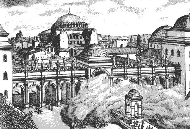 Большой ипподром Константинополя, северная сторона.