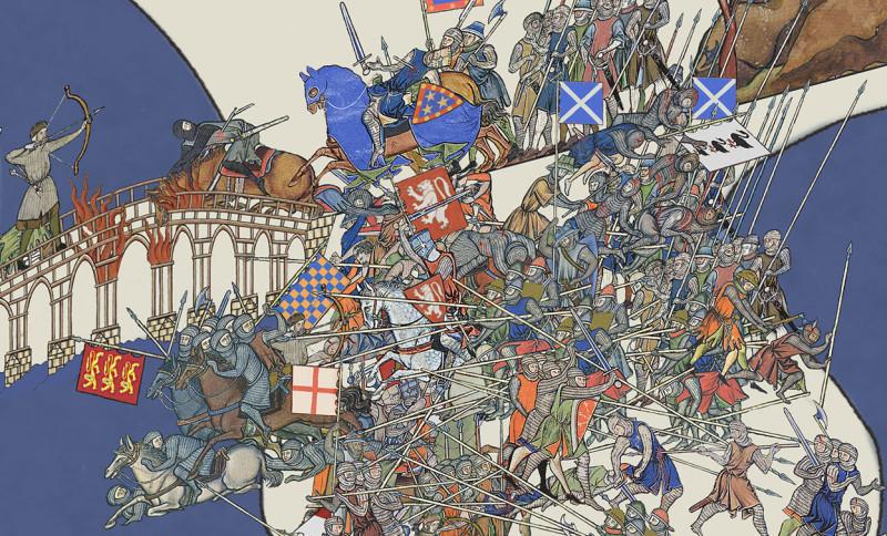 Битва на Стерлингском мосту 1297 года, в которой шотландцы наголово разбили армию сраных бриташек.