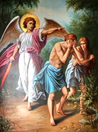 Изгнание Адама и Евы из Эдема.