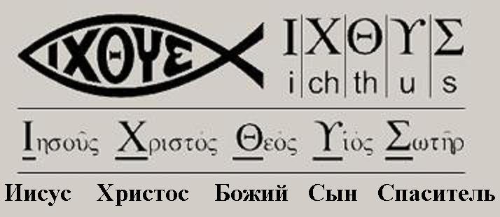 Богословие первых христиан. Подобные изображения рыбы можно было найти в римских катакомбах, в которых первые христиане скрывались от гонений и проводили свои собрания.