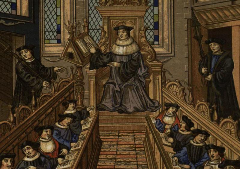 Средневековый европейский университет.