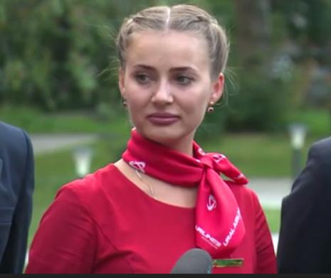 Бортпроводница спасенного лайнера Надежда Вершинина. Гордая. Смелая. Красивая. Как и вся Россия.