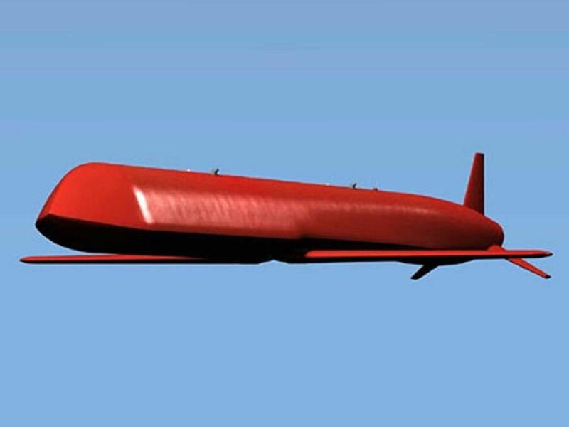 Крылатая ракета X-101 в полете.