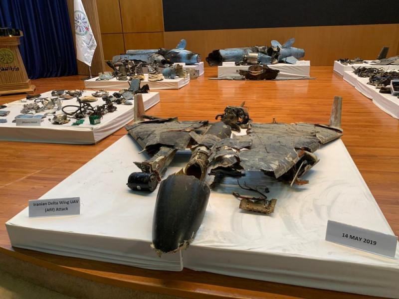 Остатки беспилотника-камикадзе хуситов, задействованного при атаке нефтяного объекта суадитов в Абкайке.