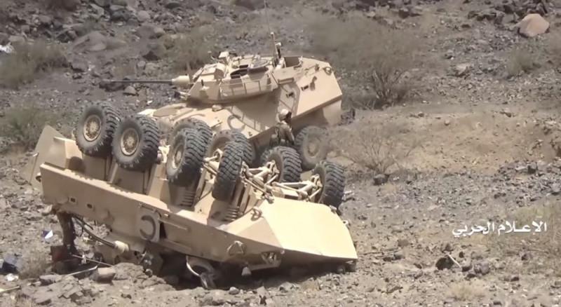 Саудовские бронемашины LAV-25 канадского производства компании тупых пиндосов General Dynamics Land Systems. Примерно такие же бронемашины стоят и на вооружении самого Пиндостана.
