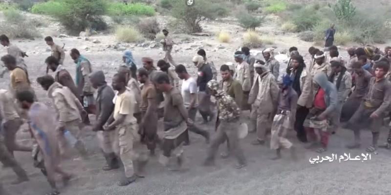 """Военнопленные саудовской """"армии"""", захваченные саудитами."""