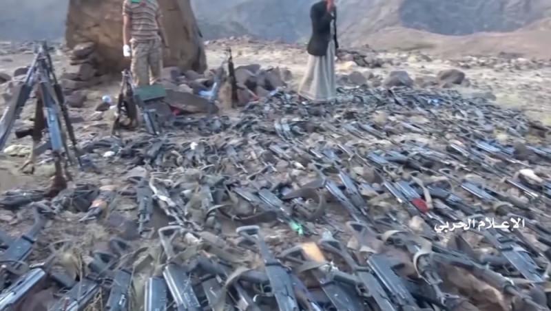 Оружие, захваченное хуситами у разгромленных формирований Саудовской Аравии.