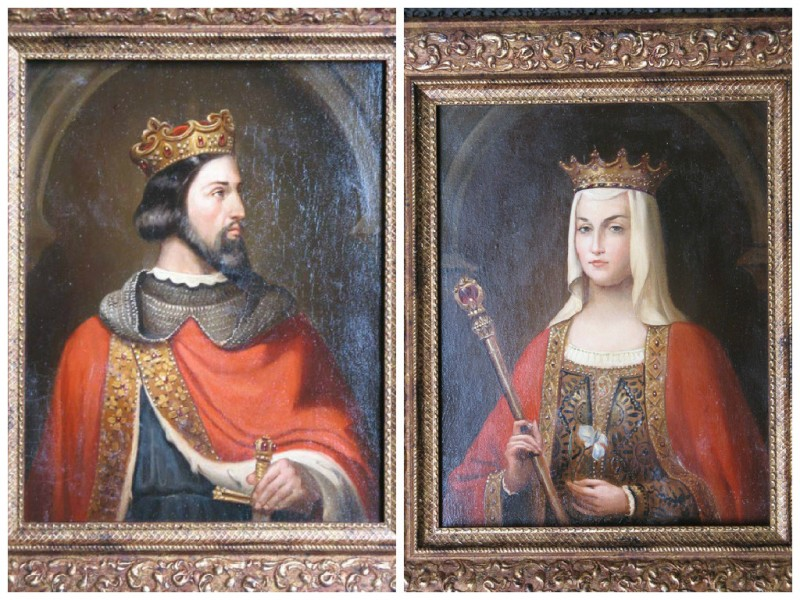 Французский король Генрих Первый (1008 - 1060)  и его жена Анна Ярославна (1032 - 1075), младшая дочь русского князя Ярослава Мудрого.