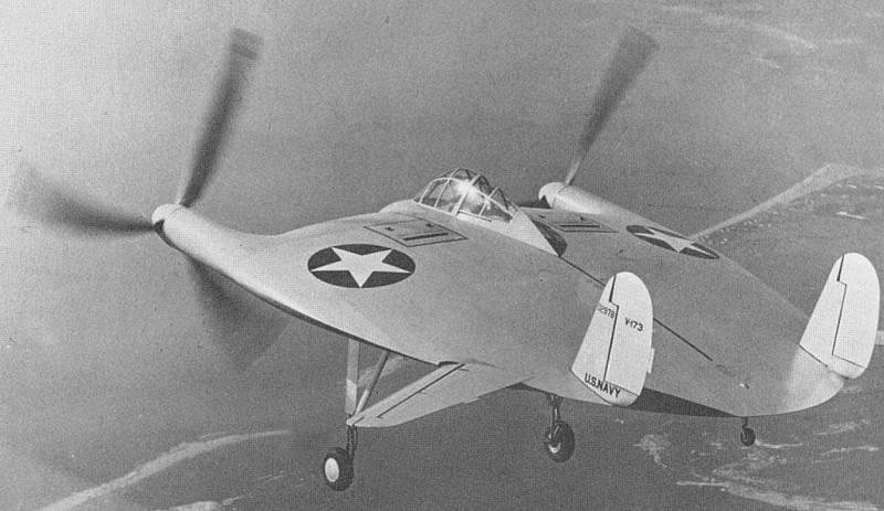 Самолет V-173 Чарльза Циммермана.
