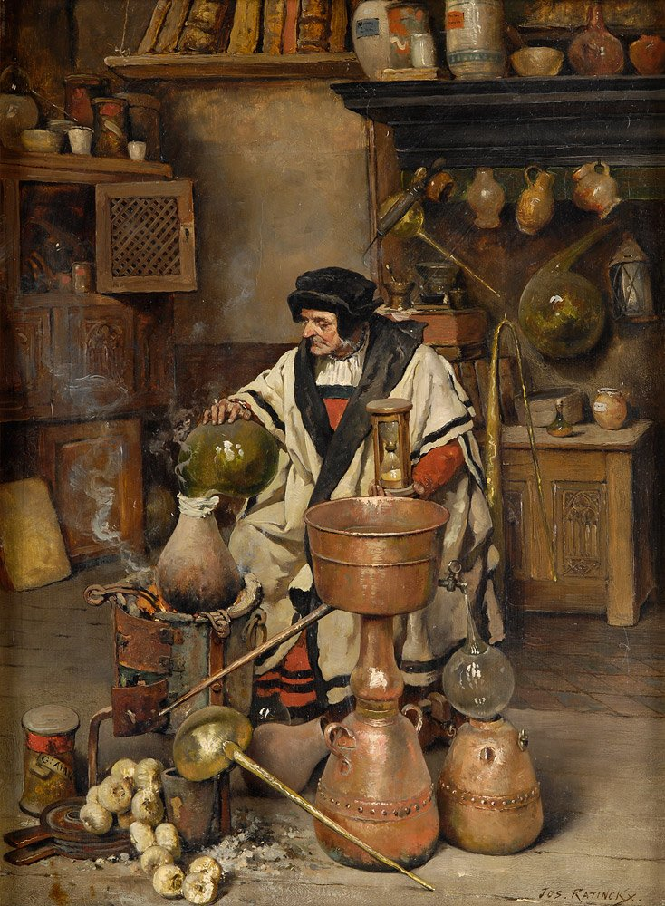 """Классический европейский """"ученый"""" вплоть до 17 века - это не физик и даже не схоластик. Это алхимик, оккультист и каббалист. Но даже из этого европейского мракобесия вышла польза - ведь все эти алхимики и оккультисты придавали огромное значение опытам (иногда - довольно жутковатым, особенно в сфере медицины), в то время как схоласты и другие официальные ученые того времени опытом пренебрегали."""