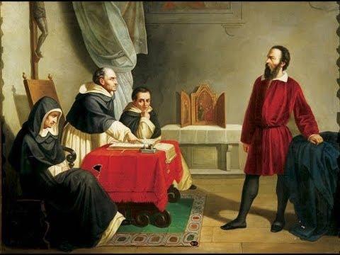 """Суд над Галилеем в Риме в 1633 году. Европейские """"ученые варвары"""" спорят о правильности космологии Аристотеля, от которой зависела правильность всего католического учения и авторитет Папы Римского как """"наместника Бога на земле""""."""