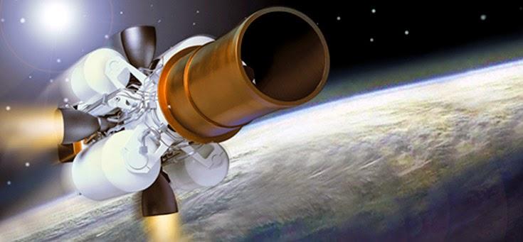 Перехватчик противоракеты GBI - примитивный аппарат с торчащими по сторонам баллонами с горючим и с рулевыми соплами, которые должны корректировать траекторию перехватчика и направлять его на цель.