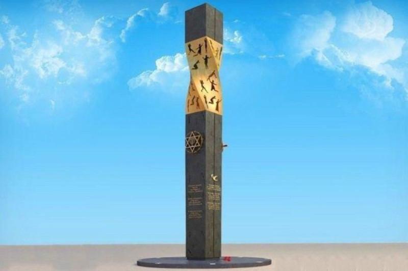 """Памятник """"жертвам ленинградской блокады"""" в Иерусалиме, на открытие которого Путин и Лавров пустили слезу."""
