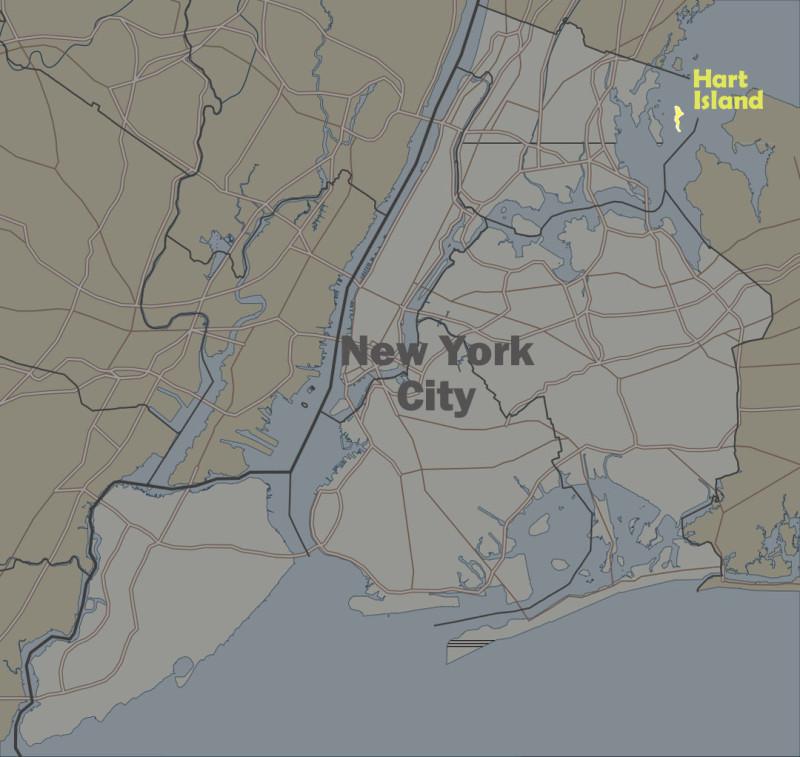 Остров Харт (Hart) на карте Нью-Йорка - одно из самых жутких мест на планете Земля.