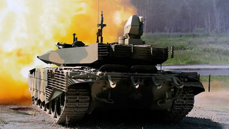 Т-90М. В задней части новая башня имеет почти прямоугольную форму, что сильно снижает радиолокационную заметность танка.