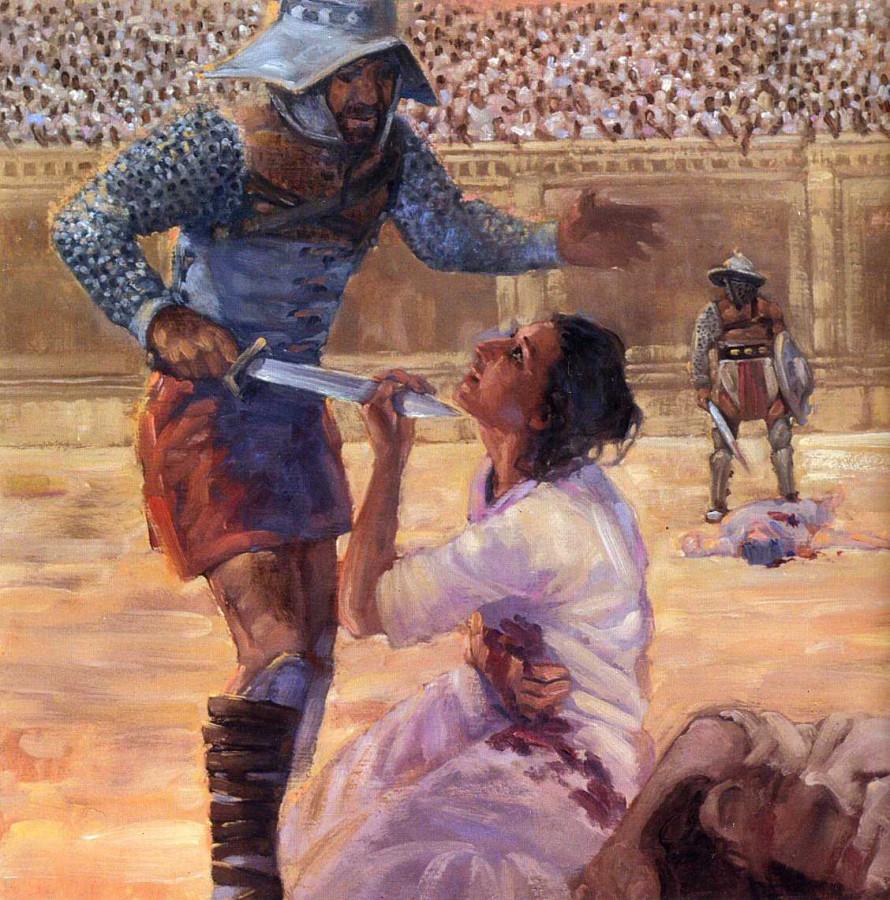 Гонения Рима на христиан - одна из самых жутких страниц мировой истории. Римляне христиан убивали страшно и мучительно, убивали в их домах и в колизеях, убивали женщин, стариков и детей. Но вера христиан была настолько сильной, что они прошли через все эти страшные гонения и победили. Победили весь мир.
