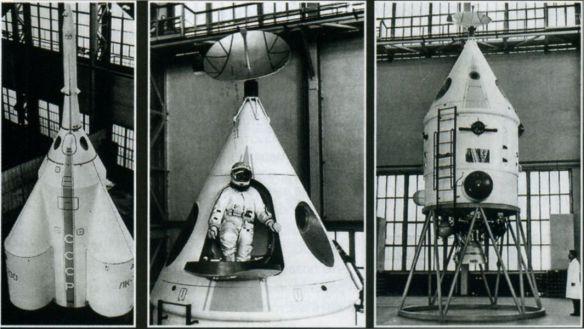 Советский лунный модуль ЛК-700. Космонавты размещены только в верхнем конусе модуля, все остальное - это двигатели и топливо.