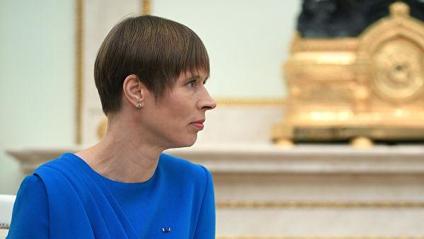 Эстонская принцесса Керсти Кальюлайд во время визита в Москву.