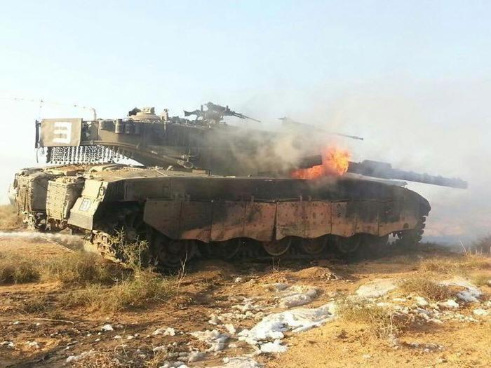 """""""Меркавы"""" отлично горят. Гораздо лучше, чем большинство других танков."""