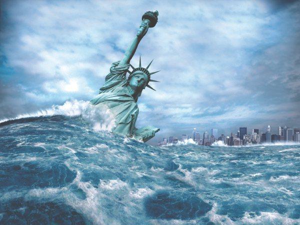 """Нью-Йорк после """"визита вежливости"""" русских и китайских кораблей."""