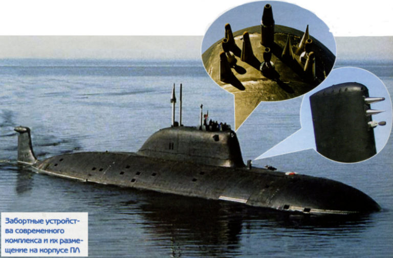 """Датчики для анализа забортной воды системы СОКС на русской подводной лодке проекта 885 """"Ясень""""."""