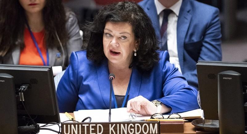 Физиономия Сраной Британии в ООН -  Карен Пирс.