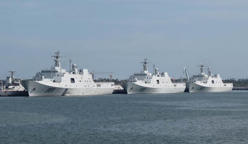 Китайские десантные корабли проекта 071.