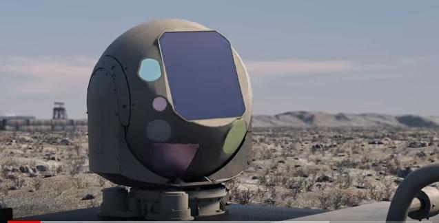Лазерный излучатель на крыше машинки-багги. Тупые пиндосы хоть представляют, сколько нужно энергии для такого излучателя?