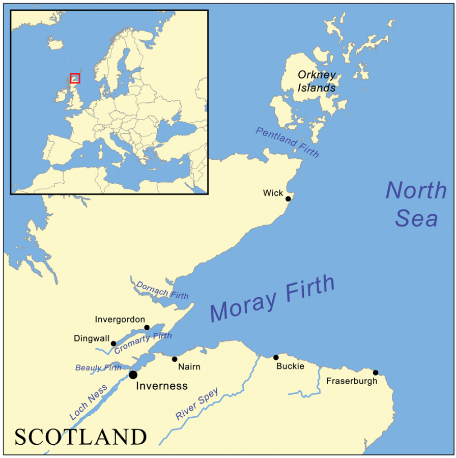 Залив Мори-Ферт на северо-востоке Сраной Бриташки, у берегов Шотландии.