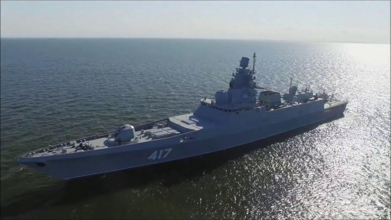 "Русский фрегат ""Адмирал Горшков""."