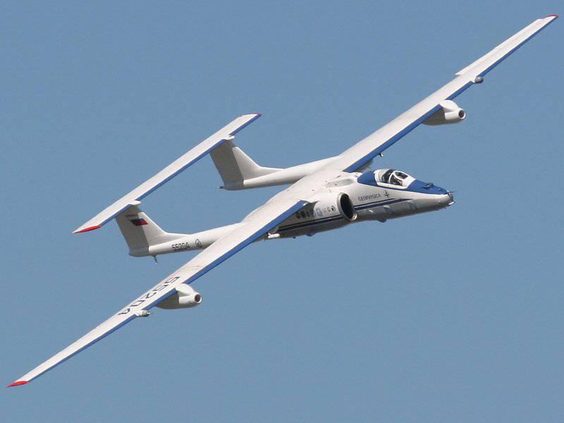 Высотный самолет-разведчик М-55.