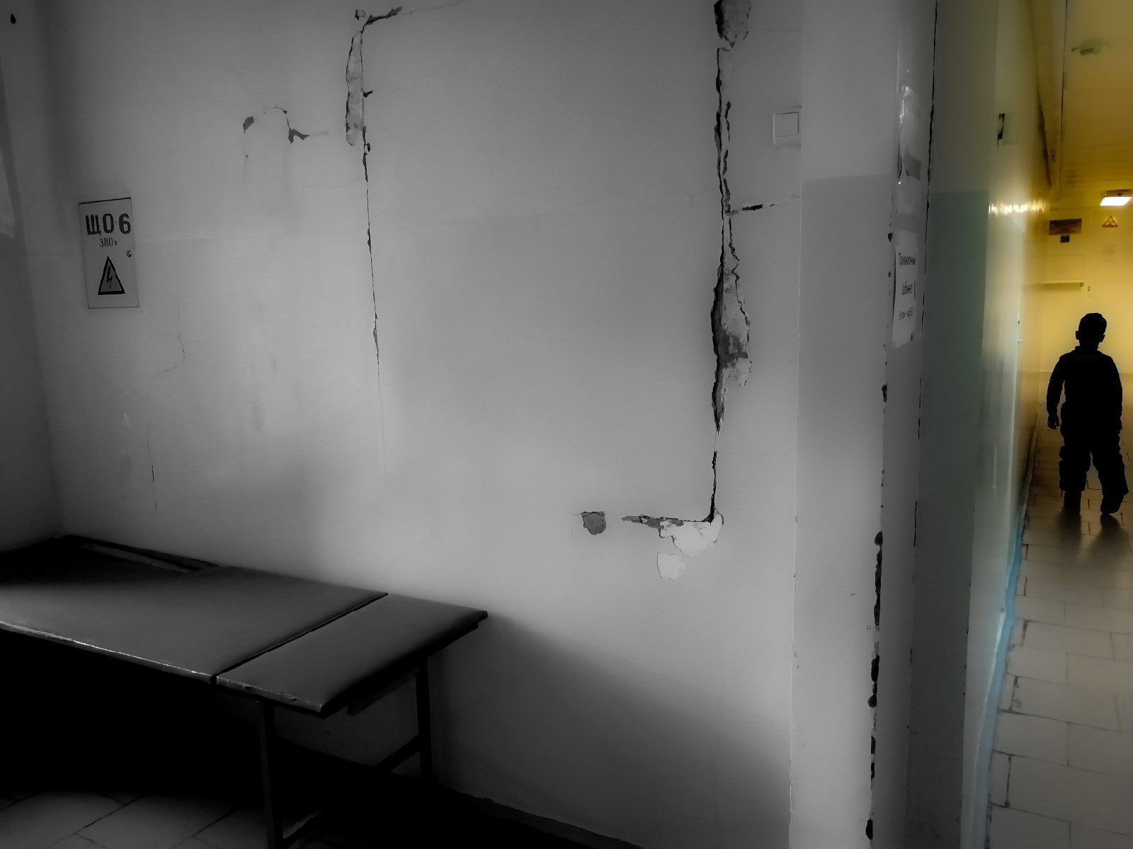 Это не кадры из фильма ужасов, это детская поликлиника