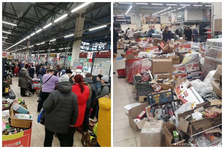 Народ разгромил магазины из-за 70% скидок