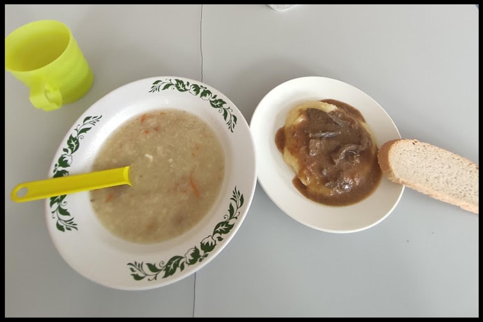 Шикарный обед в больнице