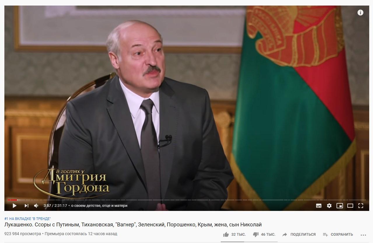 Откровение Лукашенко про Путина