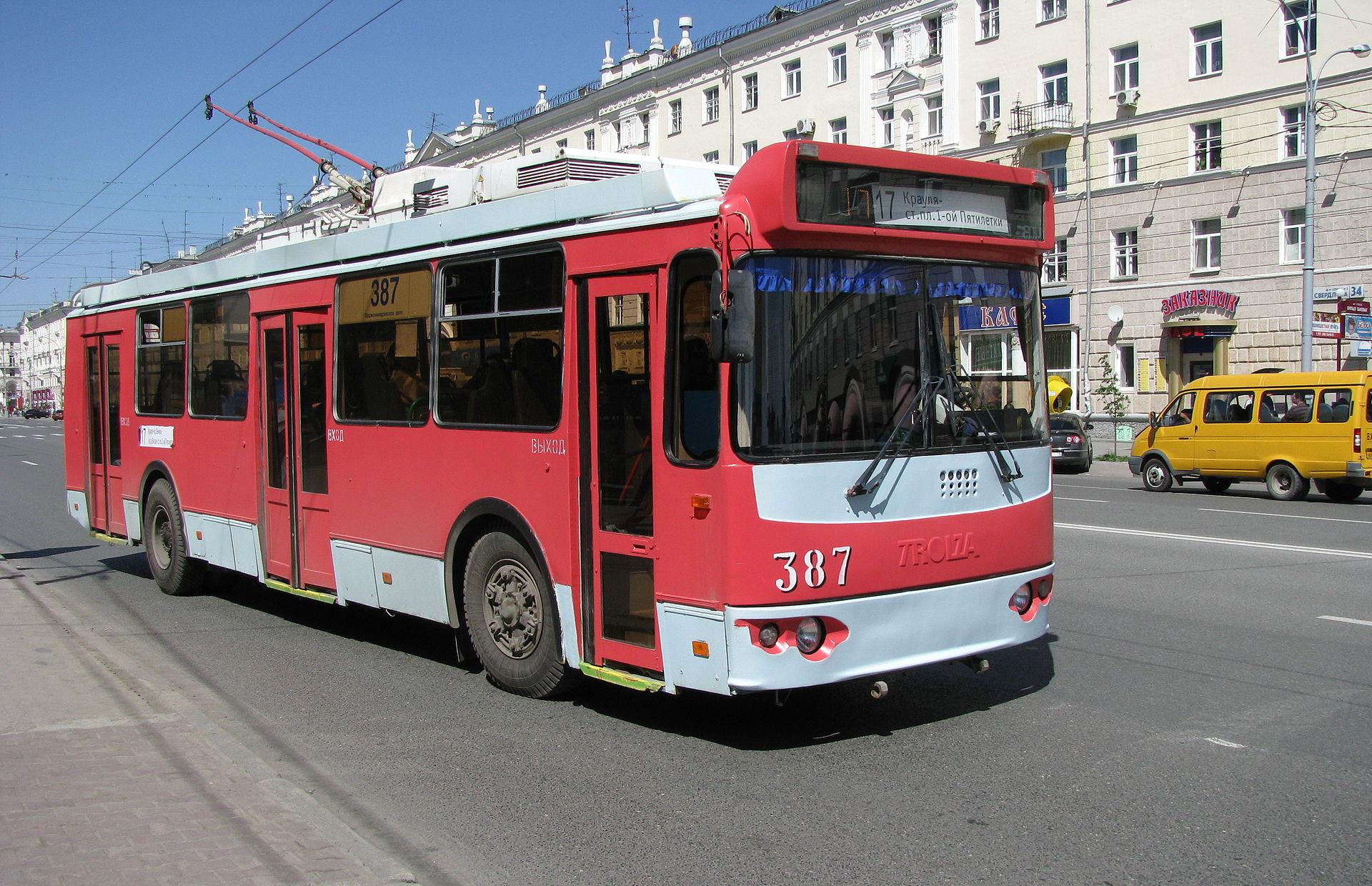 Московские троллейбусы ждут своей отправки в регионы