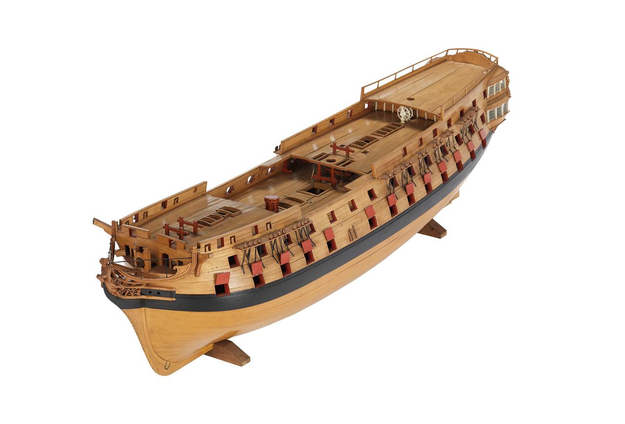 Корпус 74-пушечного, двухпалубного, линейного корабля третьего ранга. Примерно 1800 год